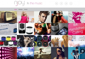Njoy the music website