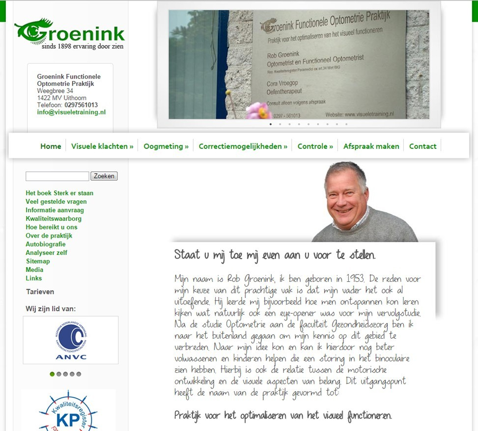 Rob Groenink Visueletraining