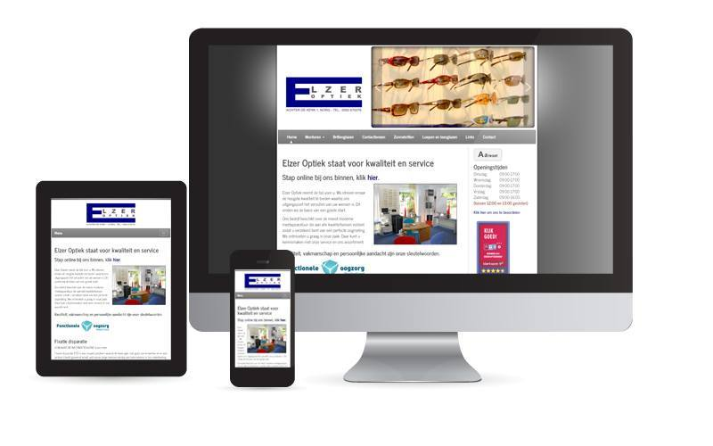 Responsive design Elzer Optiek