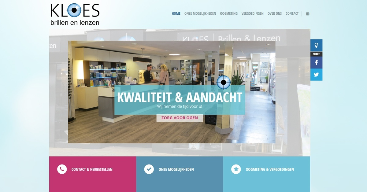 Website Opticien Kloes